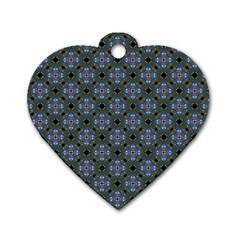 Space Wallpaper Pattern Spaceship Dog Tag Heart (two Sides)