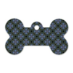 Space Wallpaper Pattern Spaceship Dog Tag Bone (two Sides) by BangZart