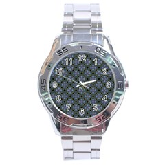 Space Wallpaper Pattern Spaceship Stainless Steel Analogue Watch by BangZart