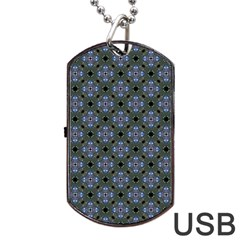 Space Wallpaper Pattern Spaceship Dog Tag Usb Flash (one Side) by BangZart