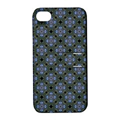 Space Wallpaper Pattern Spaceship Apple Iphone 4/4s Hardshell Case With Stand