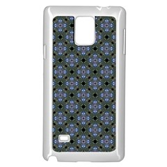 Space Wallpaper Pattern Spaceship Samsung Galaxy Note 4 Case (white) by BangZart
