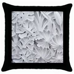 Pattern Motif Decor Throw Pillow Case (black) by BangZart