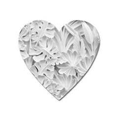Pattern Motif Decor Heart Magnet