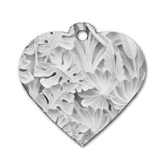 Pattern Motif Decor Dog Tag Heart (one Side) by BangZart