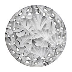 Pattern Motif Decor Round Filigree Ornament (two Sides)