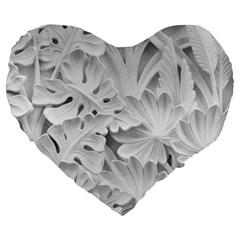 Pattern Motif Decor Large 19  Premium Heart Shape Cushions by BangZart