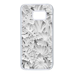 Pattern Motif Decor Samsung Galaxy S7 White Seamless Case