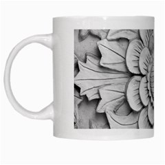 Pattern Motif Decor White Mugs