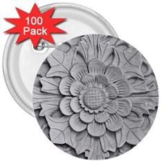 Pattern Motif Decor 3  Buttons (100 Pack)  by BangZart