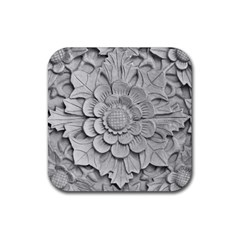 Pattern Motif Decor Rubber Square Coaster (4 Pack)  by BangZart