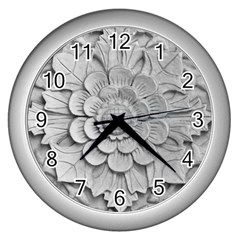 Pattern Motif Decor Wall Clocks (silver)  by BangZart