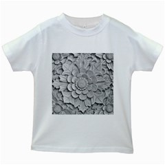 Pattern Motif Decor Kids White T Shirts