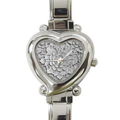 Pattern Motif Decor Heart Italian Charm Watch