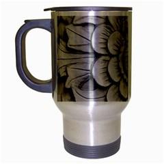 Pattern Motif Decor Travel Mug (silver Gray) by BangZart