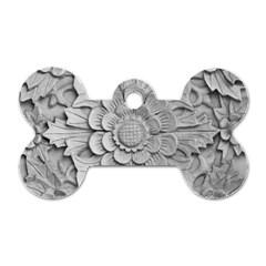 Pattern Motif Decor Dog Tag Bone (one Side)