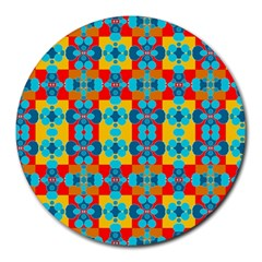 Pop Art Abstract Design Pattern Round Mousepads by BangZart