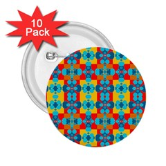 Pop Art Abstract Design Pattern 2 25  Buttons (10 Pack)  by BangZart
