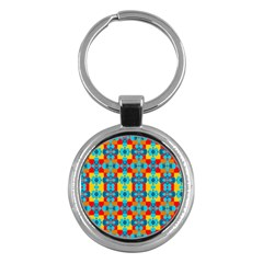 Pop Art Abstract Design Pattern Key Chains (round)  by BangZart