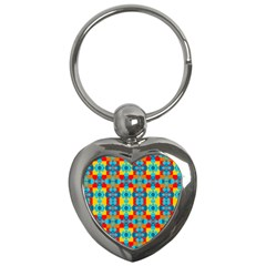 Pop Art Abstract Design Pattern Key Chains (heart)  by BangZart