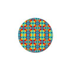 Pop Art Abstract Design Pattern Golf Ball Marker (4 Pack)