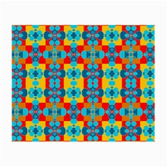Pop Art Abstract Design Pattern Small Glasses Cloth by BangZart