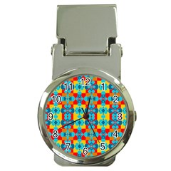Pop Art Abstract Design Pattern Money Clip Watches by BangZart