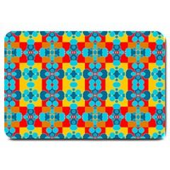 Pop Art Abstract Design Pattern Large Doormat