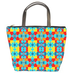 Pop Art Abstract Design Pattern Bucket Bags