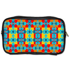 Pop Art Abstract Design Pattern Toiletries Bags 2 Side by BangZart