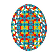 Pop Art Abstract Design Pattern Ornament (oval Filigree) by BangZart