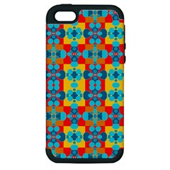 Pop Art Abstract Design Pattern Apple Iphone 5 Hardshell Case (pc+silicone)