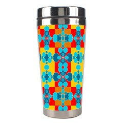 Pop Art Abstract Design Pattern Stainless Steel Travel Tumblers by BangZart