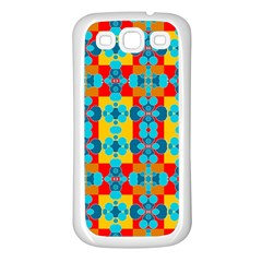 Pop Art Abstract Design Pattern Samsung Galaxy S3 Back Case (white)