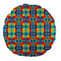 Pop Art Abstract Design Pattern Large 18  Premium Flano Round Cushions by BangZart