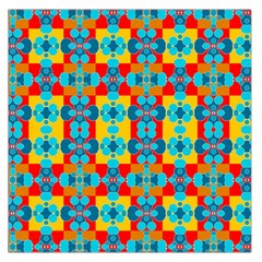 Pop Art Abstract Design Pattern Large Satin Scarf (square)