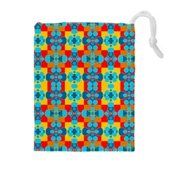Pop Art Abstract Design Pattern Drawstring Pouches (extra Large) by BangZart