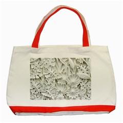 Pattern Motif Decor Classic Tote Bag (red)