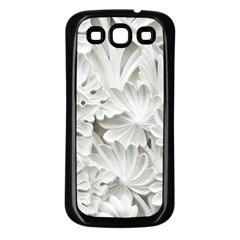 Pattern Motif Decor Samsung Galaxy S3 Back Case (black) by BangZart