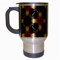Kaleidoscope Image Background Travel Mug (silver Gray) by BangZart
