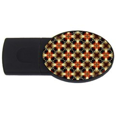 Kaleidoscope Image Background Usb Flash Drive Oval (4 Gb) by BangZart