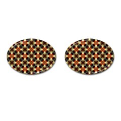 Kaleidoscope Image Background Cufflinks (oval) by BangZart