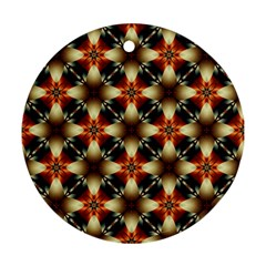 Kaleidoscope Image Background Round Ornament (two Sides) by BangZart