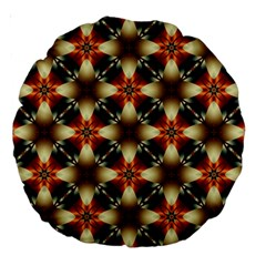 Kaleidoscope Image Background Large 18  Premium Round Cushions by BangZart