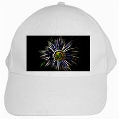 Flower Structure Photo Montage White Cap by BangZart