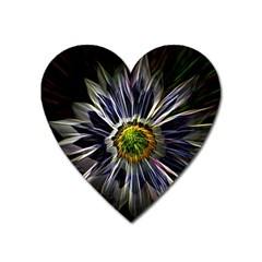 Flower Structure Photo Montage Heart Magnet