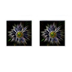 Flower Structure Photo Montage Cufflinks (square) by BangZart