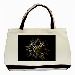 Flower Structure Photo Montage Basic Tote Bag by BangZart