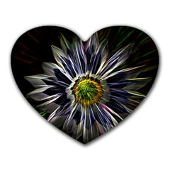 Flower Structure Photo Montage Heart Mousepads by BangZart