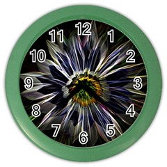 Flower Structure Photo Montage Color Wall Clocks by BangZart